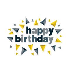 Colorful invitation happy birthday card vector