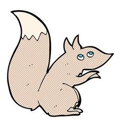 comic cartoon squirrel vector image