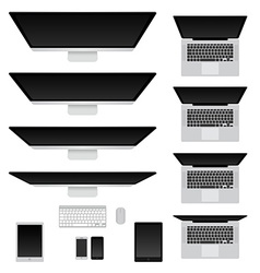 Computers and notebooks set vector image