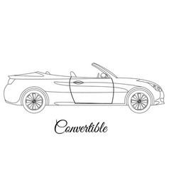 convertible car body type outline vector image