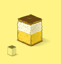 Cream cake vector