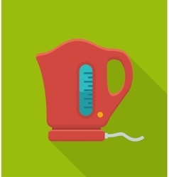 Electric kettle flat icon vector image