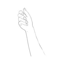 elegant arm of a woman salon procedure of vector image
