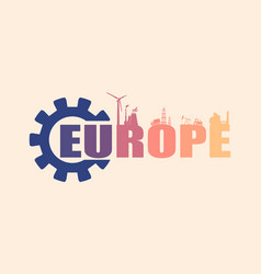 energy and power icons europe word vector image