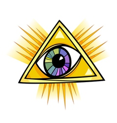 Eye of providence vector