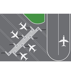 Flat design of Airport buildingwith plans terminal vector image
