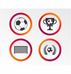 football icons soccer ball sport vector image