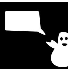 Funny Ghost Halloween congratulation vector