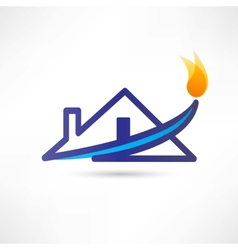 Gas water house icon vector