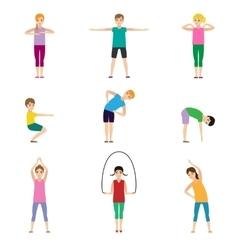 Gymnastics kids set vector