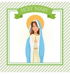 Holy mary cartoon design vector image