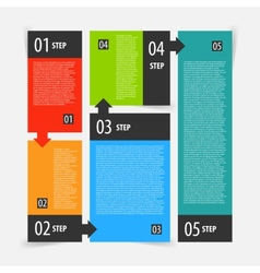 Infographics options banner steps set vector image