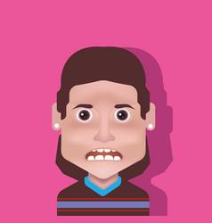 male avatar vector image