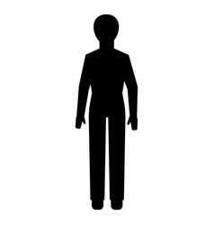 man figure icon simple style vector image