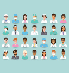 Medical and hospital staff vector