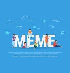 meme concept vector image