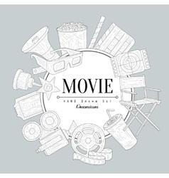 Movies Vintage Sketch vector
