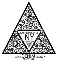 New york fashion graphic design minimal art concep vector