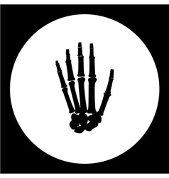 one human hand palm bones black icon eps10 vector image