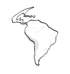 outline of a map vector image