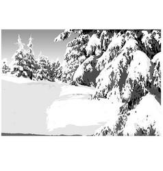 painted winter landscape vector image
