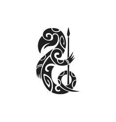 Polynesian tattoo indigenous primitive art vector