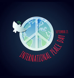 poster for the international peace day vector image
