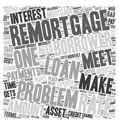 Problem remortgage text background wordcloud vector