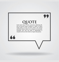 Quote marks blank template card vector