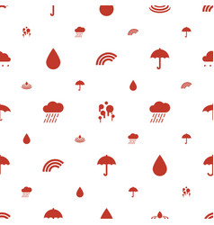 Rain icons pattern seamless white background vector