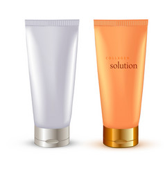 Realistic Cosmetic packaging plastic tube vector image