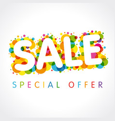 sale special offer colorful vector image