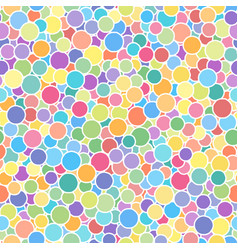 seamless abstract multicolored rounds pattern vector image