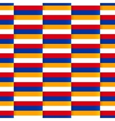Seamless pattern with flag armenia vector