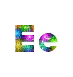 Set of letters firework E vector image