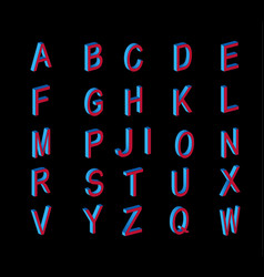 Set of letters of the isometric view vector