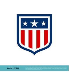 shield emblem sport team icon logo template vector image