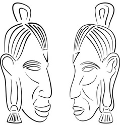 sketches of indians vector image