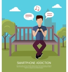 Smartphone Addiction Banner vector image