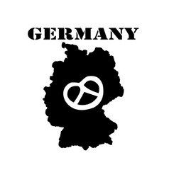 symbol of germany and map vector image