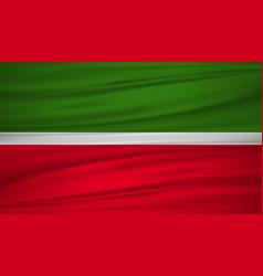tatarstan flag flag of tatarstan blowig in the vector image