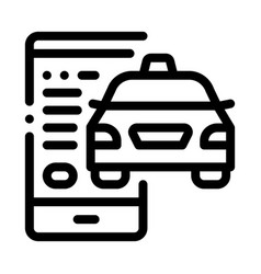 taxi tracking via phone online taxi icon vector image