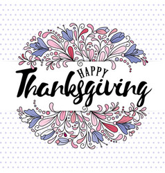 thanksgiving typography - hand drawn vector image