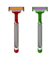 the shaving machine in the razor on white b vector image