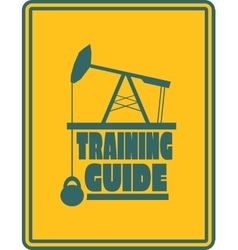 Training guide text Gym and Fitness relative vector