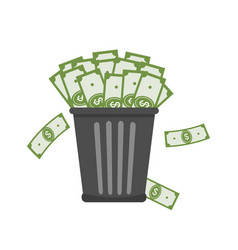 trash full of money vector image