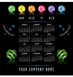 2010 globes web calendar vector image