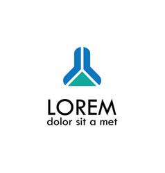 abstract building symbol logo vector image vector image