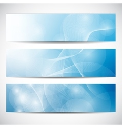 Abstract curved lines on bright background vector image