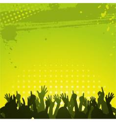 abstract green background and crowd vector image vector image